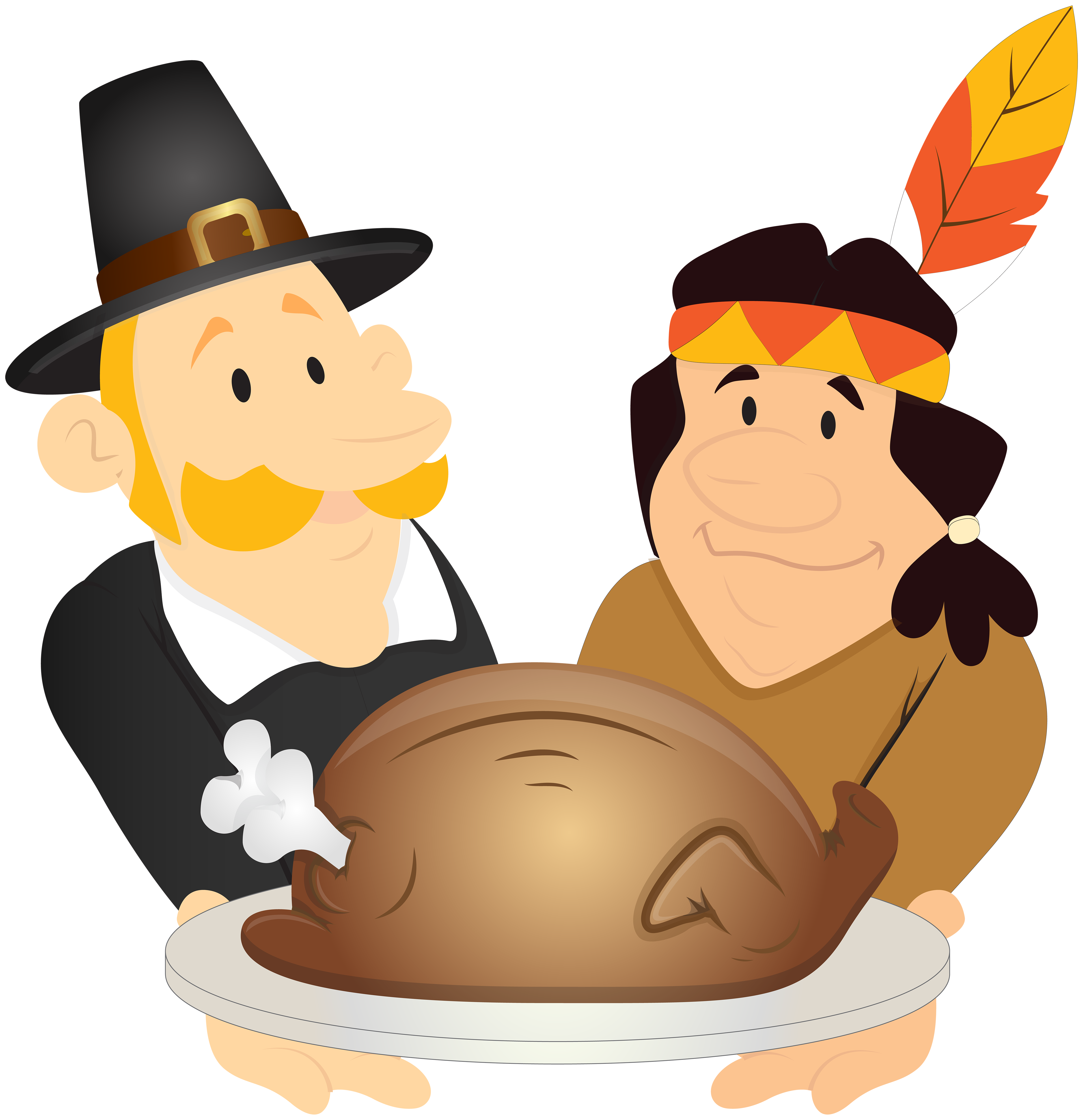 Pilgrims clipart colonial day. Thanksgiving png clip art