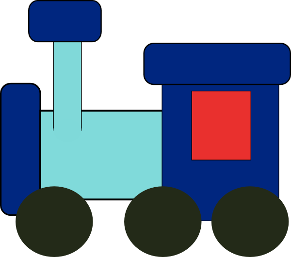 Free clip art vector. Clipart cars train