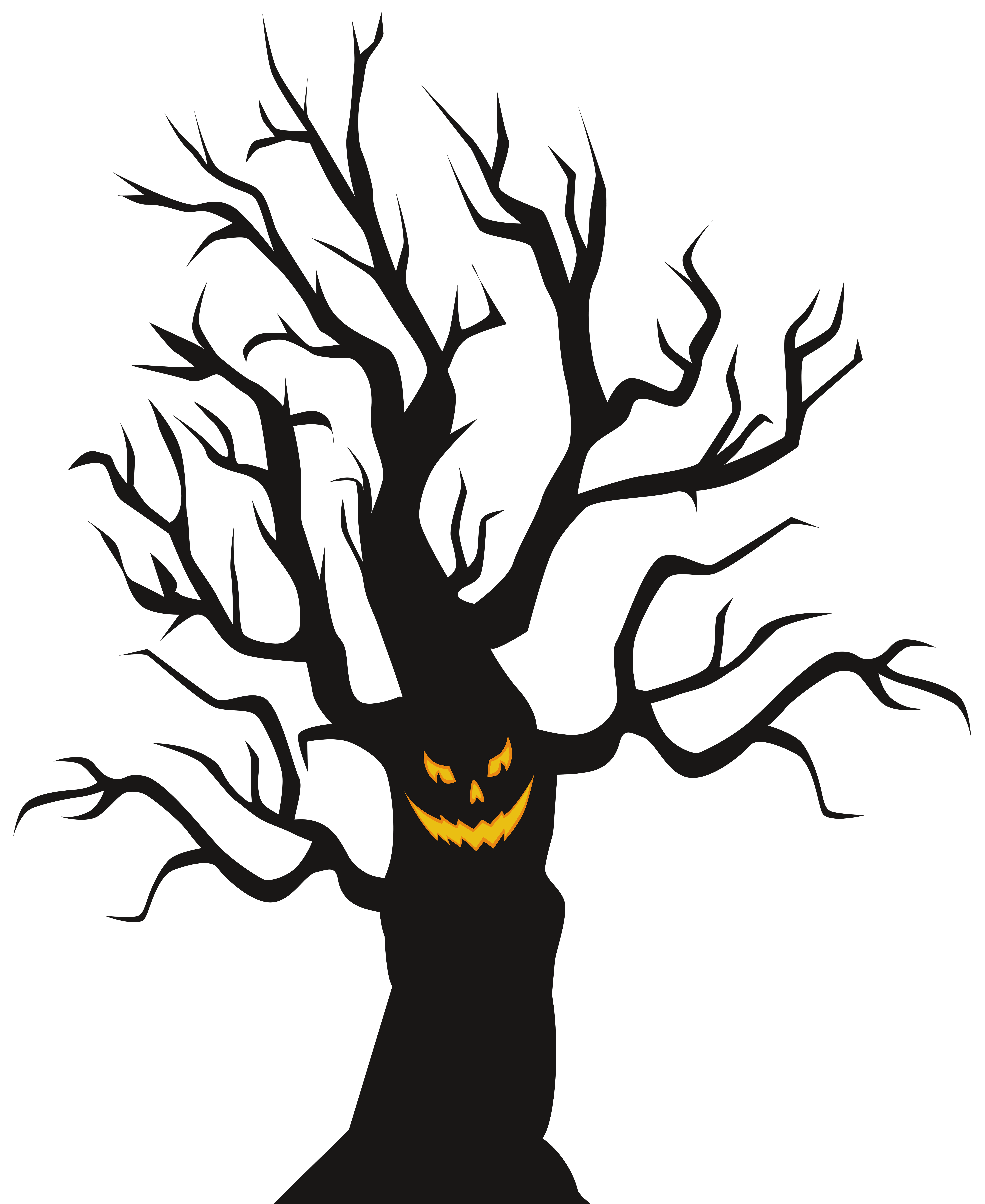 Halloween scary tree png. Hayride clipart religious