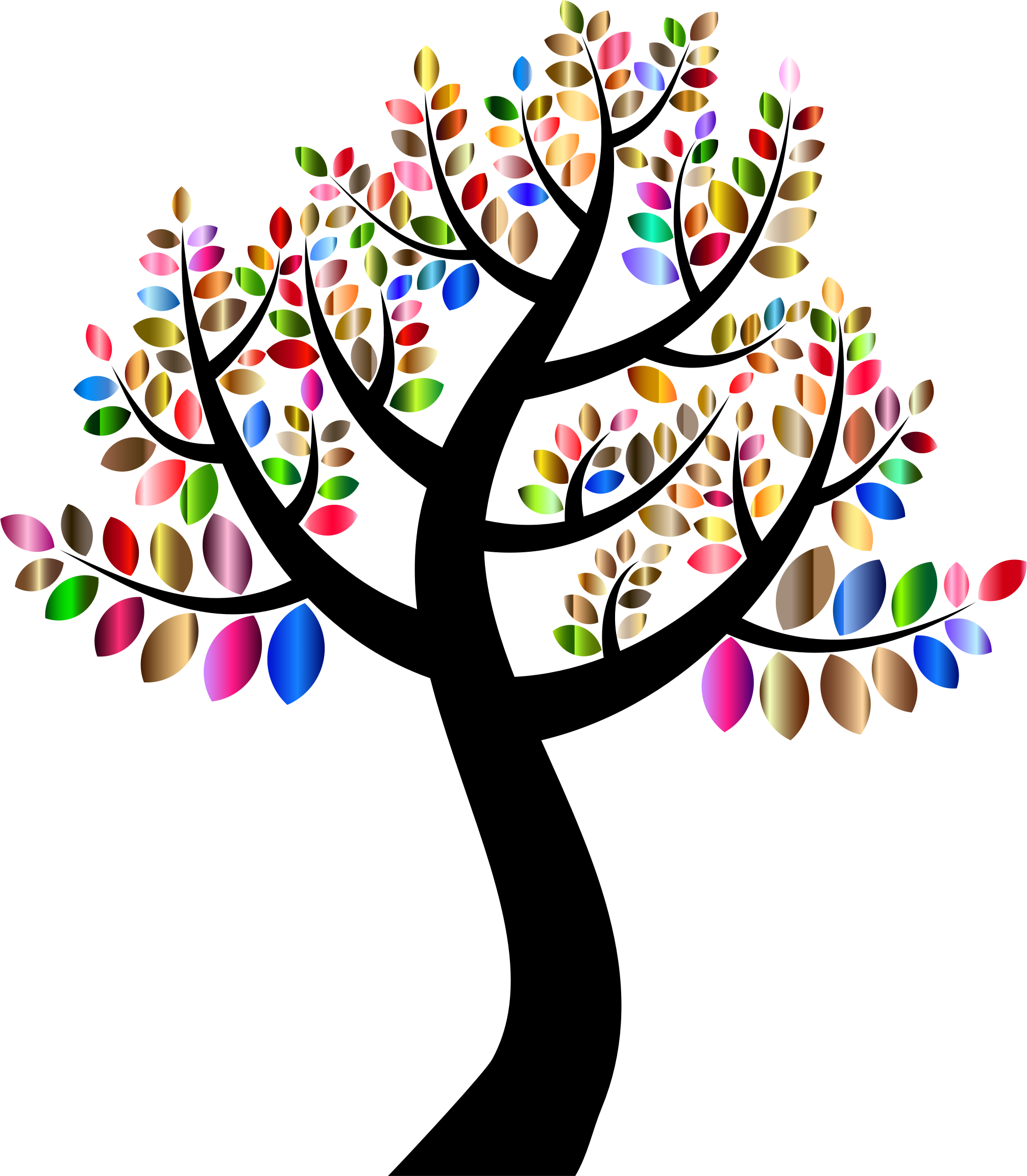 Clipart birthday tree.  collection of colorful