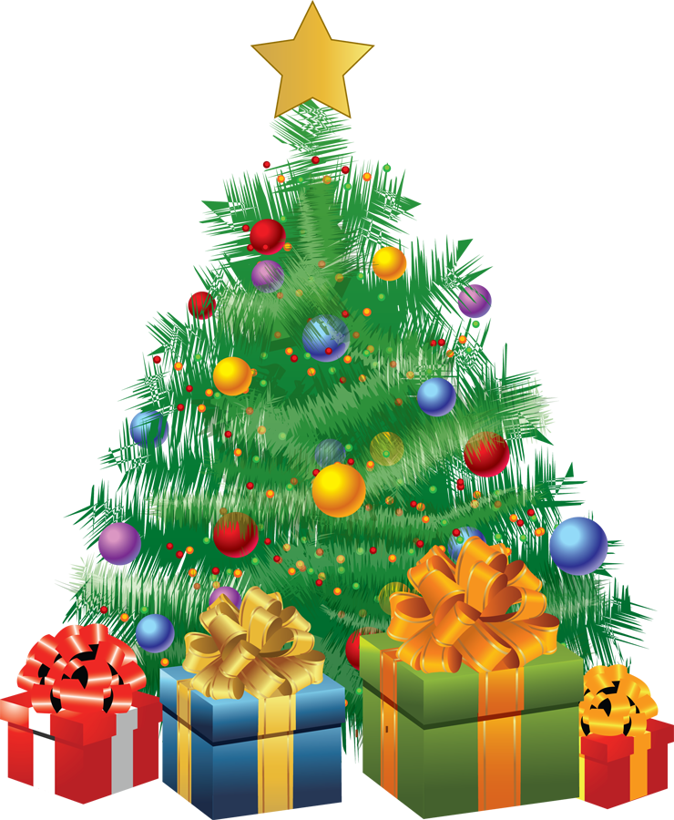 Clipart birthday tree. Merry xmas clip art