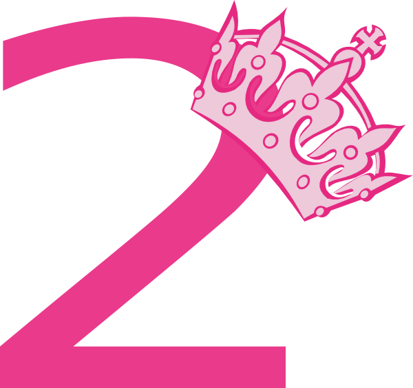 Number 2 clipart number 2nd.  nd birthday pink