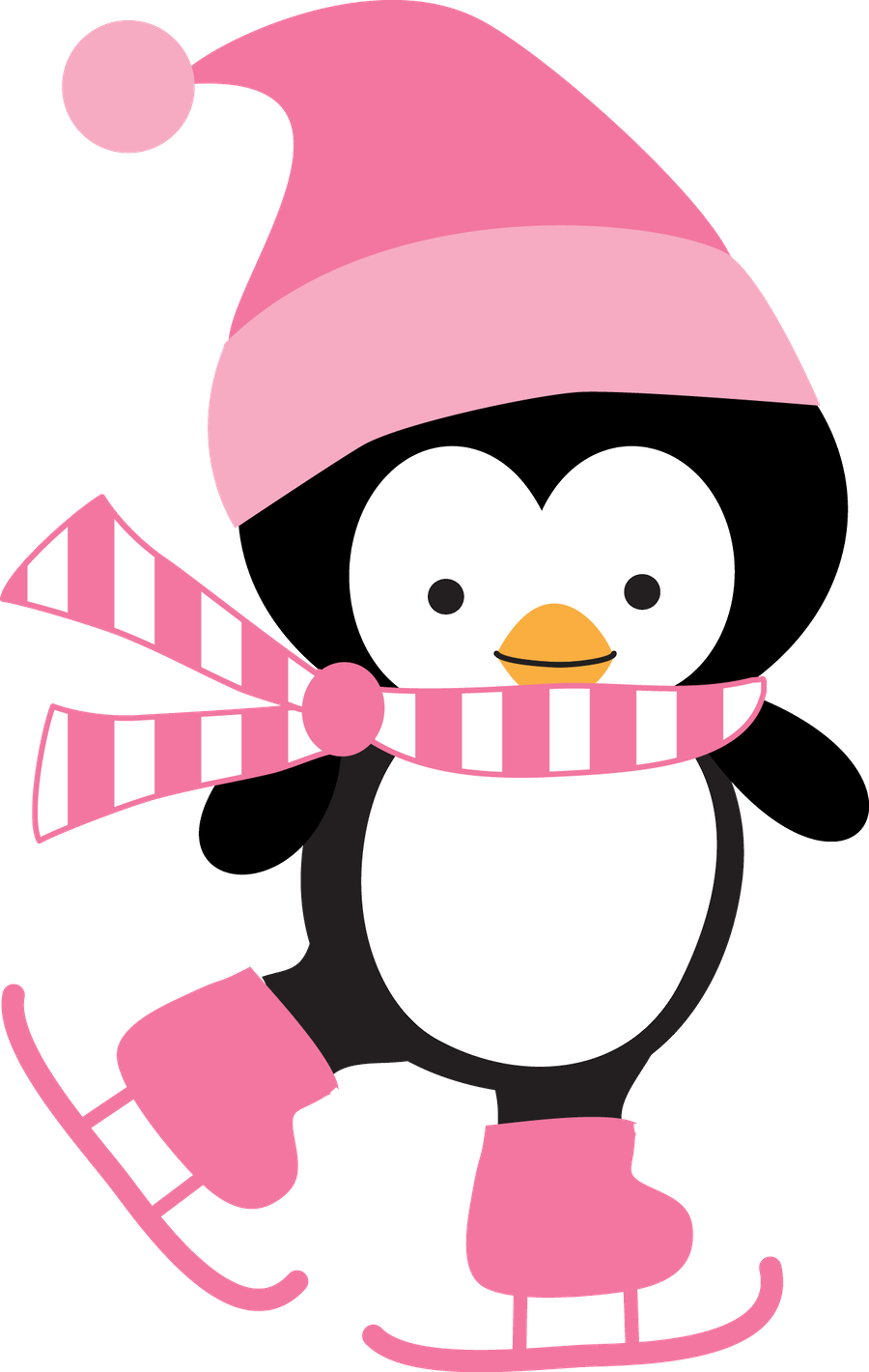 Clipart sleeping winter. Minus say hello pinguins