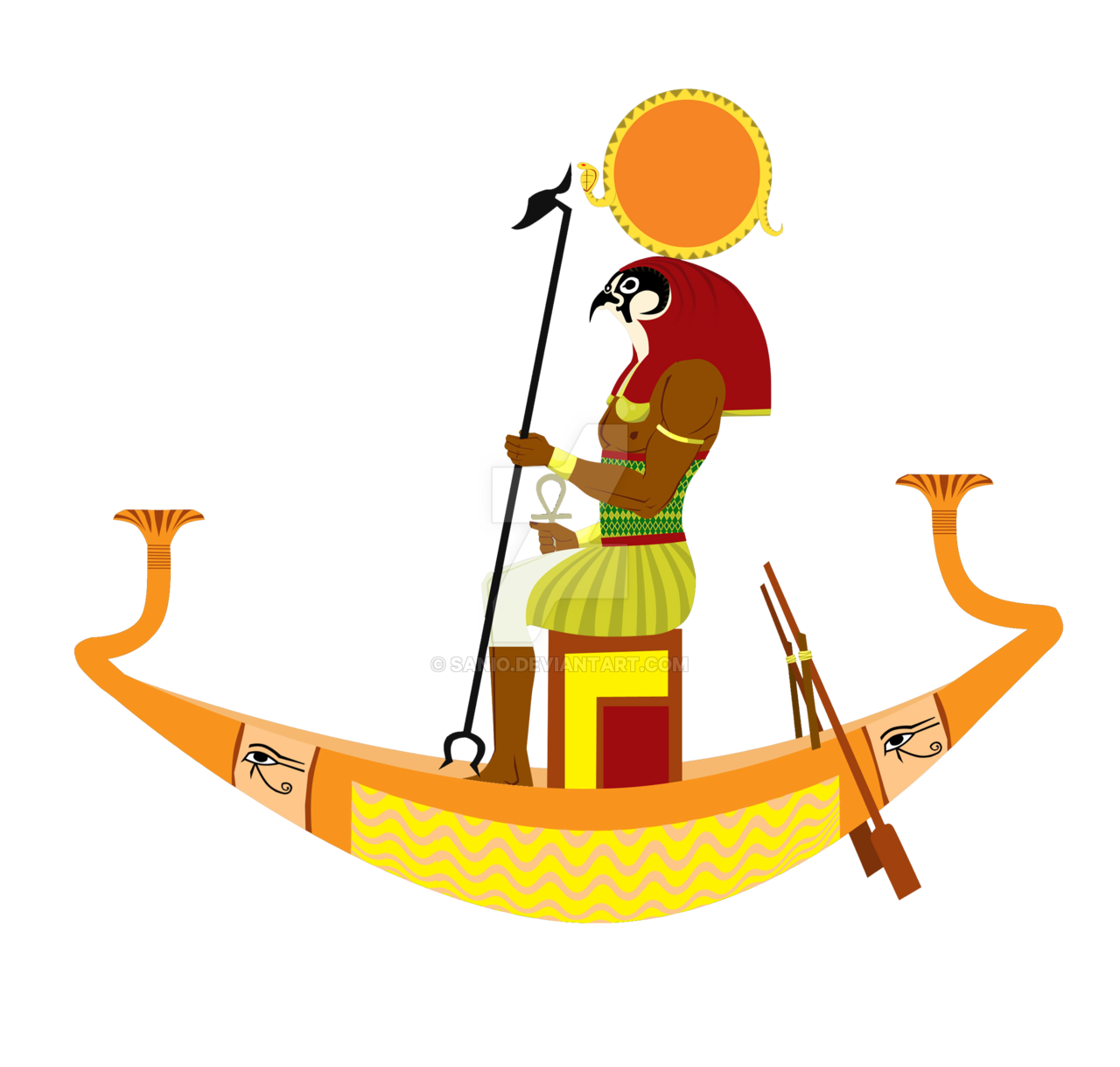 God ra on a. Clipart boat ancient egyptian