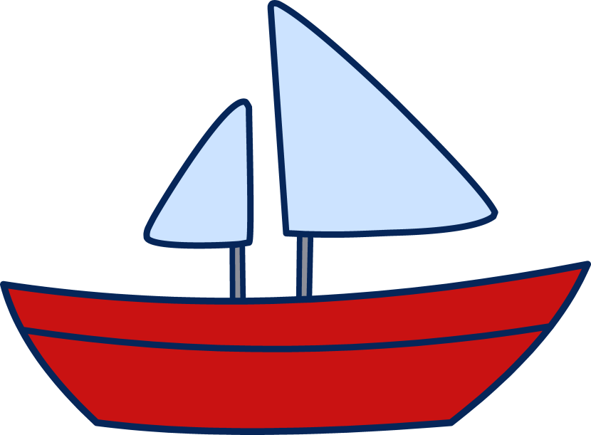 Clear background . Clipart boat border