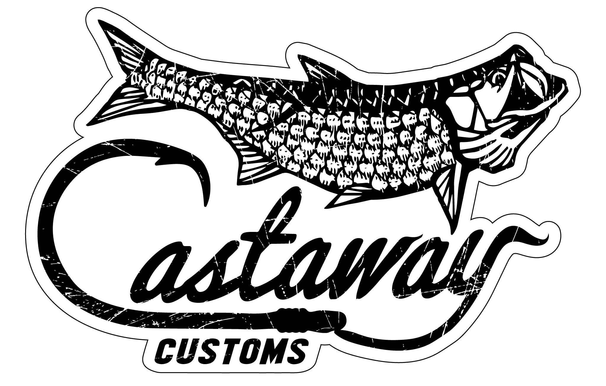 Category cabin cruisers castaway. Clipart ruler fish
