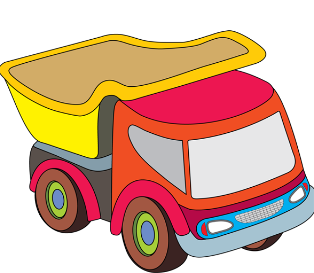 Graphic design pinterest toy. Kids clipart truck