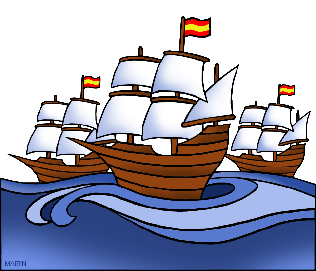 Clipart boat cartoon. Explorers clip art by