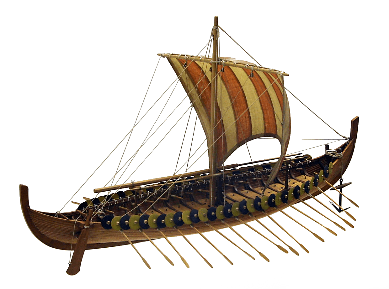 Clipart boat clear background. Large viking transparent png