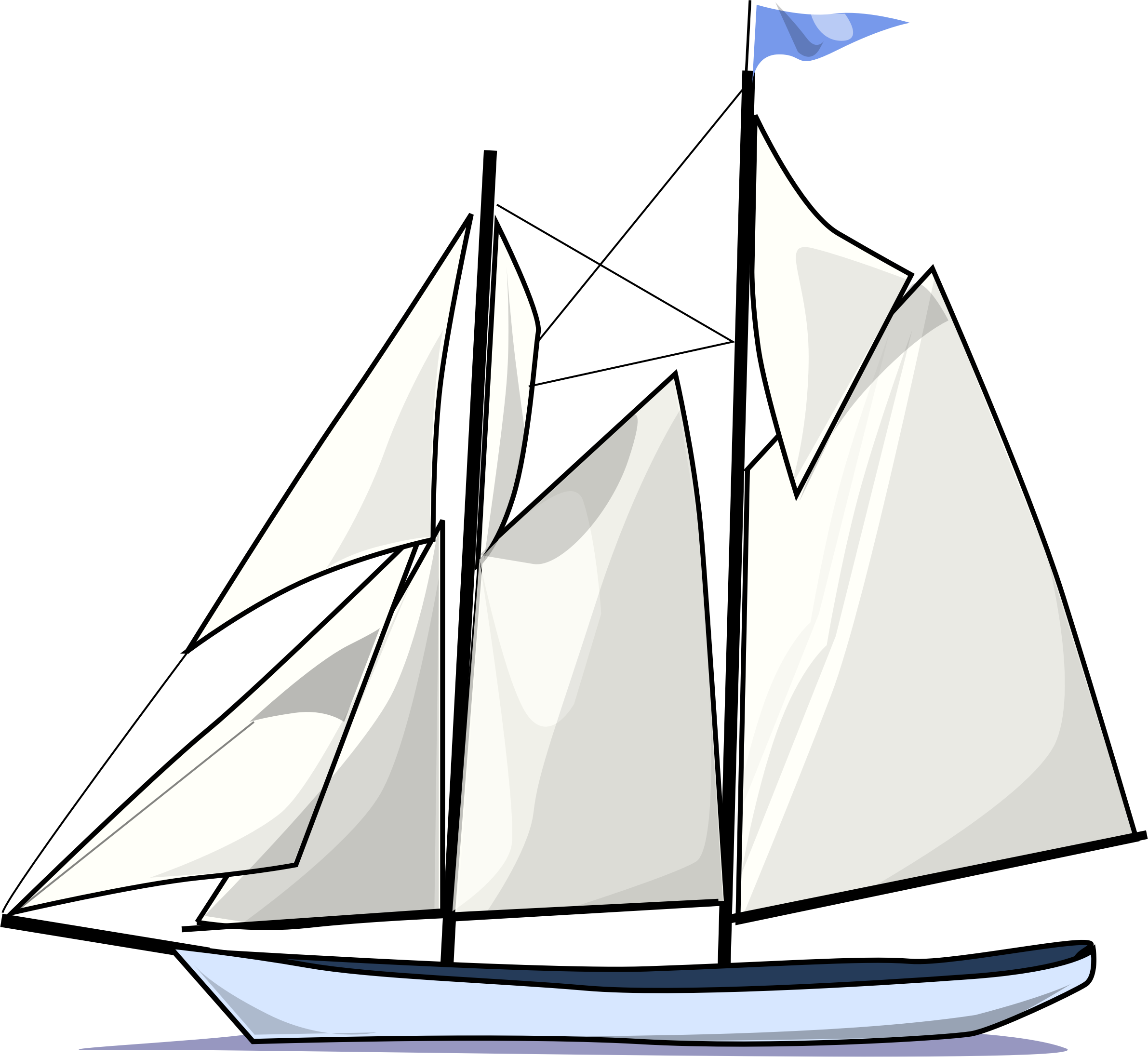 old clipart sailing boat