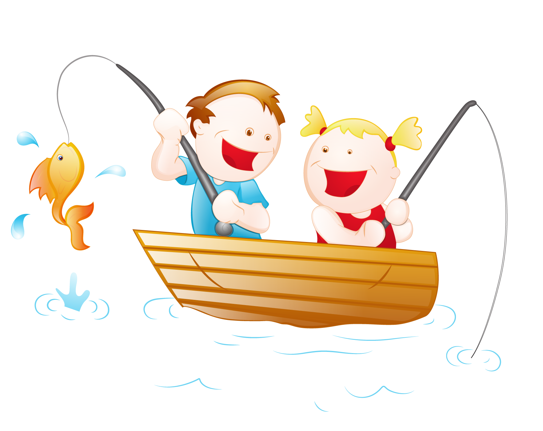 Fishing cartoon girl clip. Fisherman clipart child