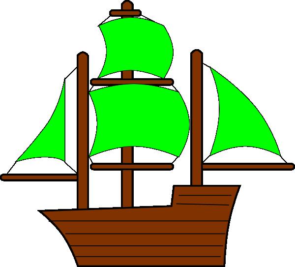 Green Pirate Ship Clip Art at Clker
