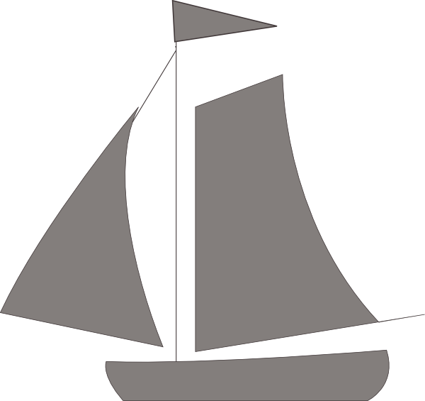 Grey Clipart boat