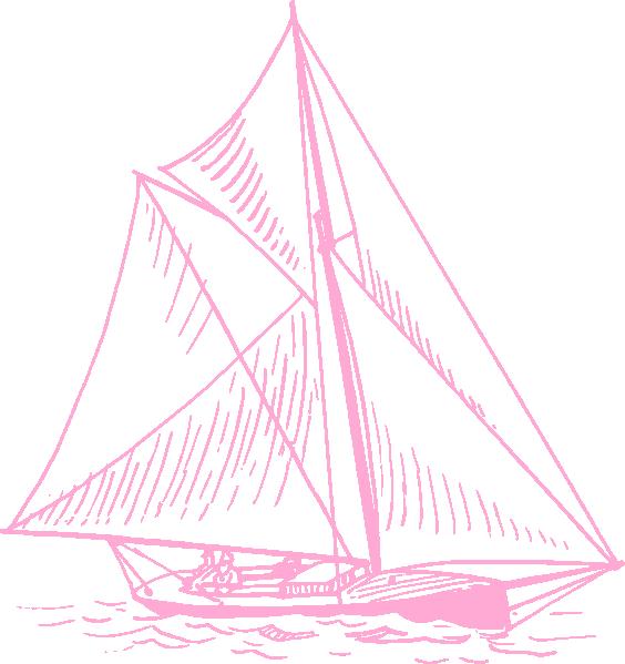 Pink sailboat clip art. Clipart boat grey