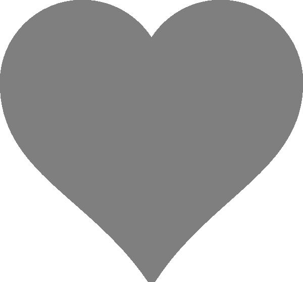 Solid dark heart clip. Clipart boat grey