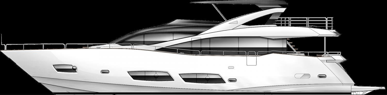 Clipart boat grey.  metre yacht sunseeker