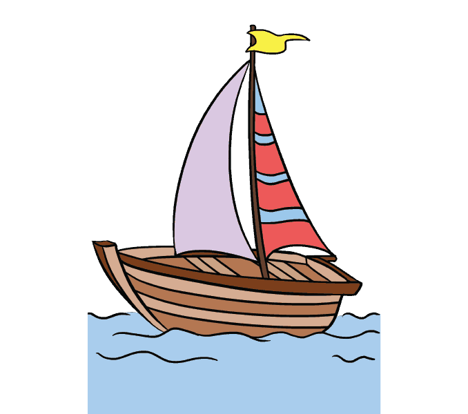 How to draw a. Lake clipart ship dock