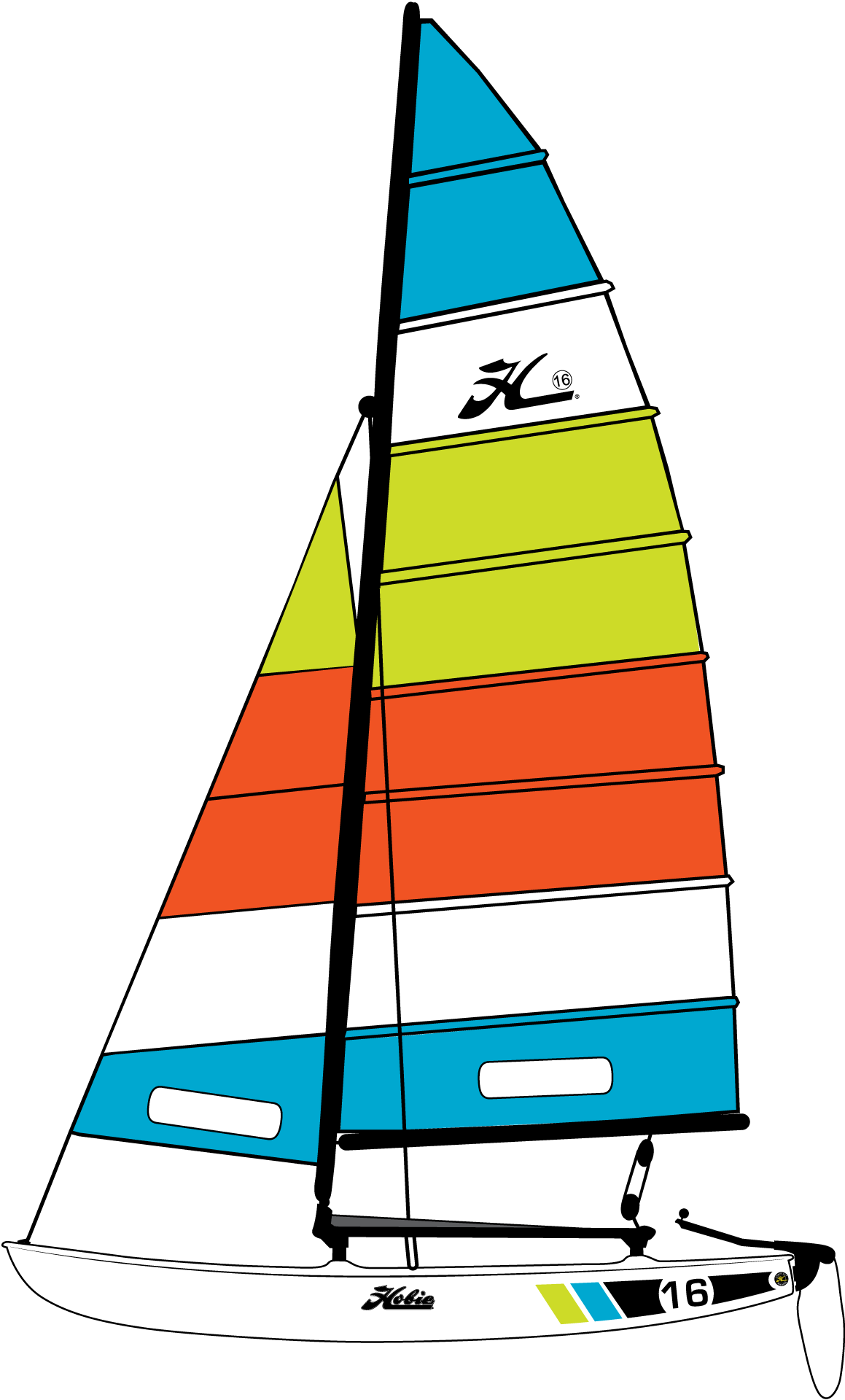 Hobie support . Clipart wave sailboat