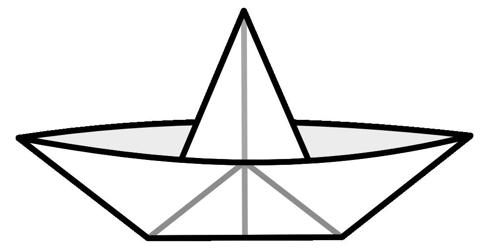 Onlinelabels clip art paperboat. Paper clipart line paper
