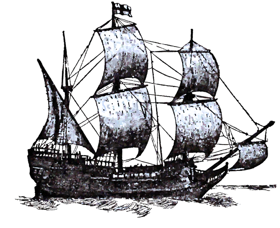 Free digital images vintage. Clipart boat mayflower