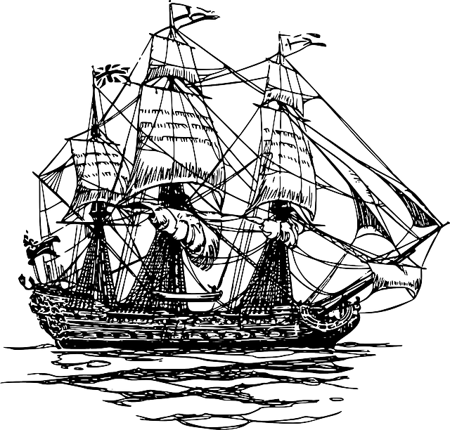 Clipart boat mayflower. Ship endeavour pencil and
