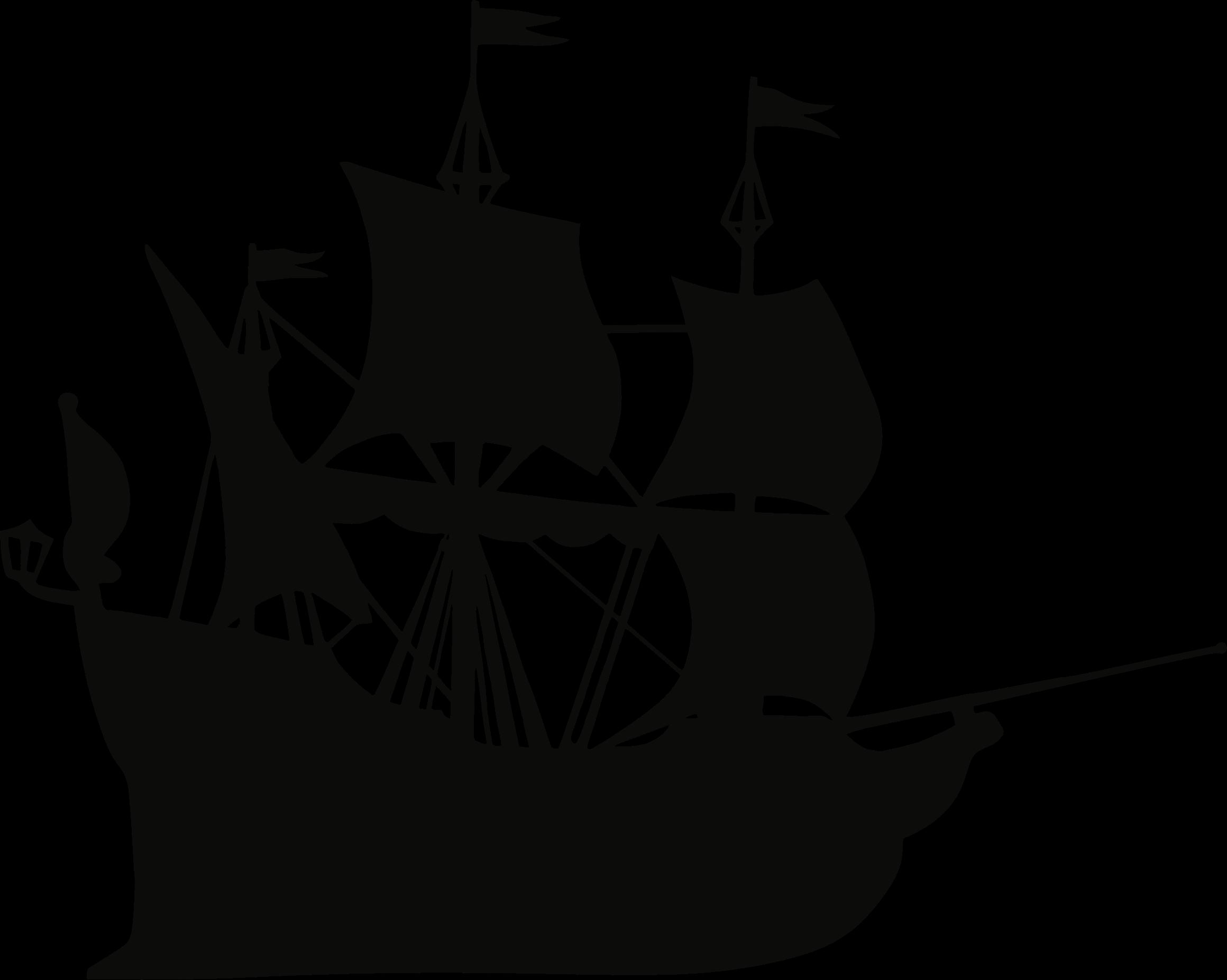 Silhouette ship