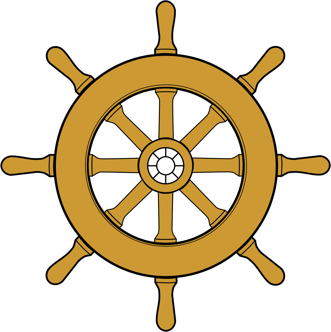 Ship steering wheel drawing. Pirate clipart goofy