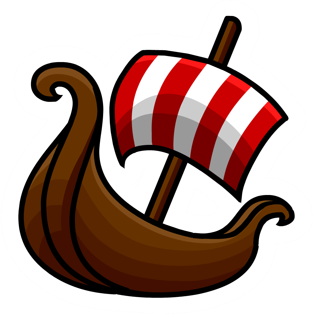 Viking sticker transparent png. Clipart boat person
