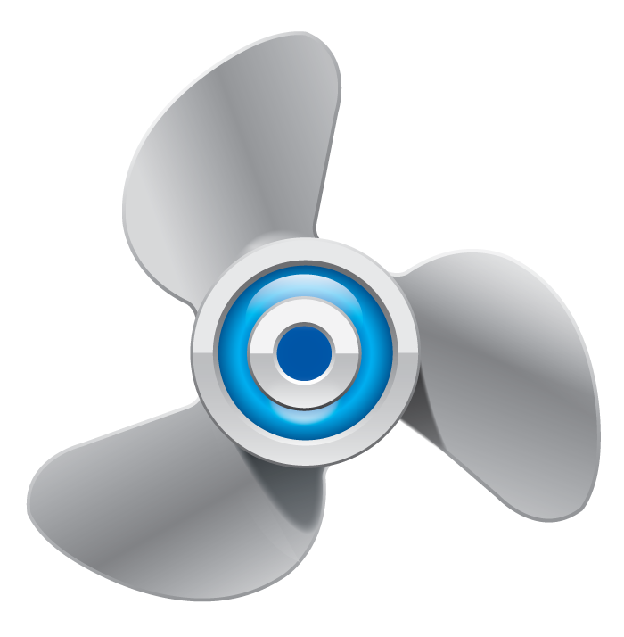 collection of propeller. Clipart boat propellor