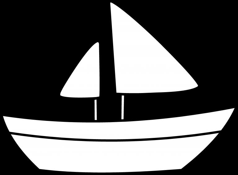 Clipart boat sailing boat. Sailboat black and white