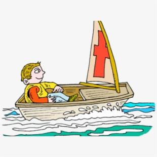 Clipart boat sailing boat. Row toy sailboat clip