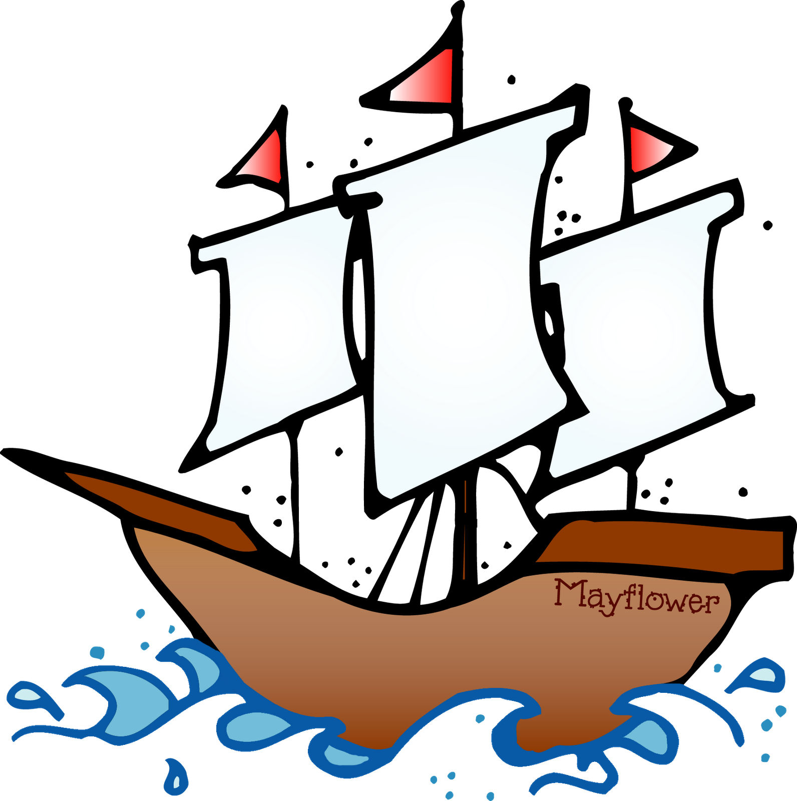 collection of mayflower. Melonheadz clipart boat