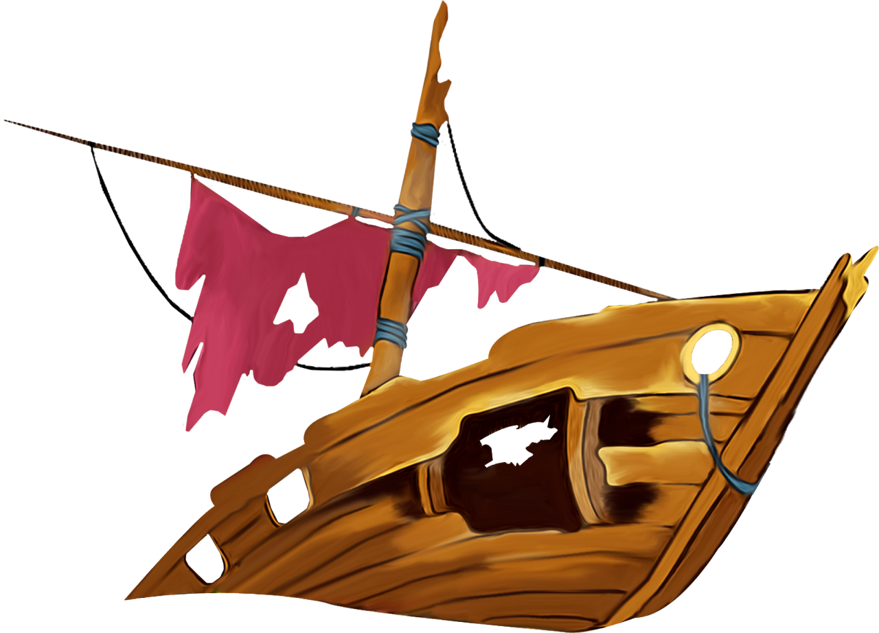 Shipwreck clip art transprent. Clipart boat shipwrecked