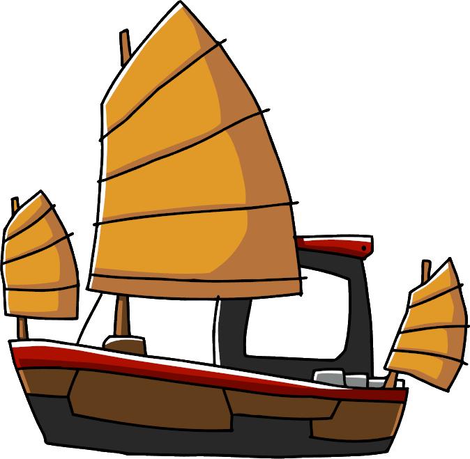 Image junk png scribblenauts. Clipart boat skiff