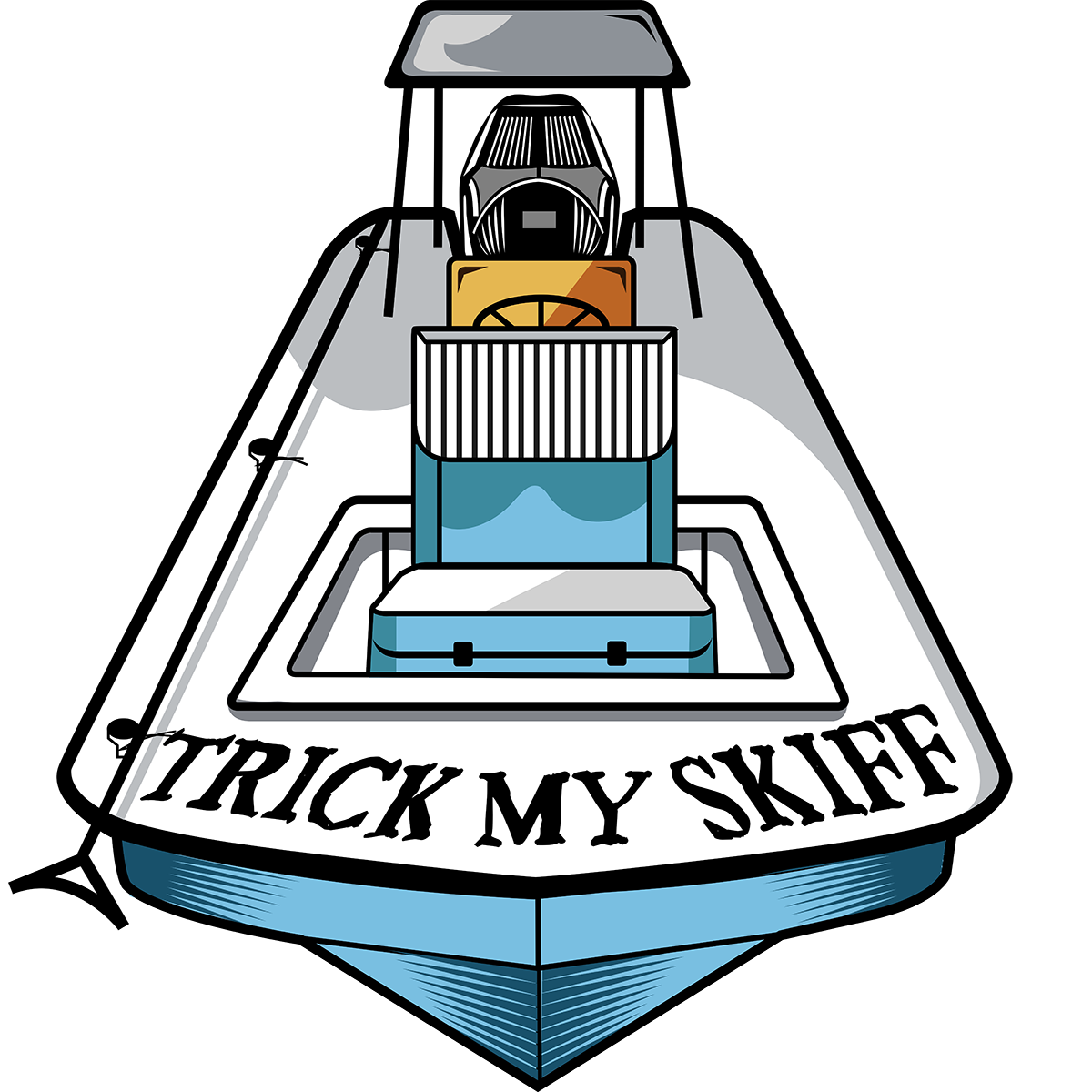 Clipart boat skiff. Trick my by life