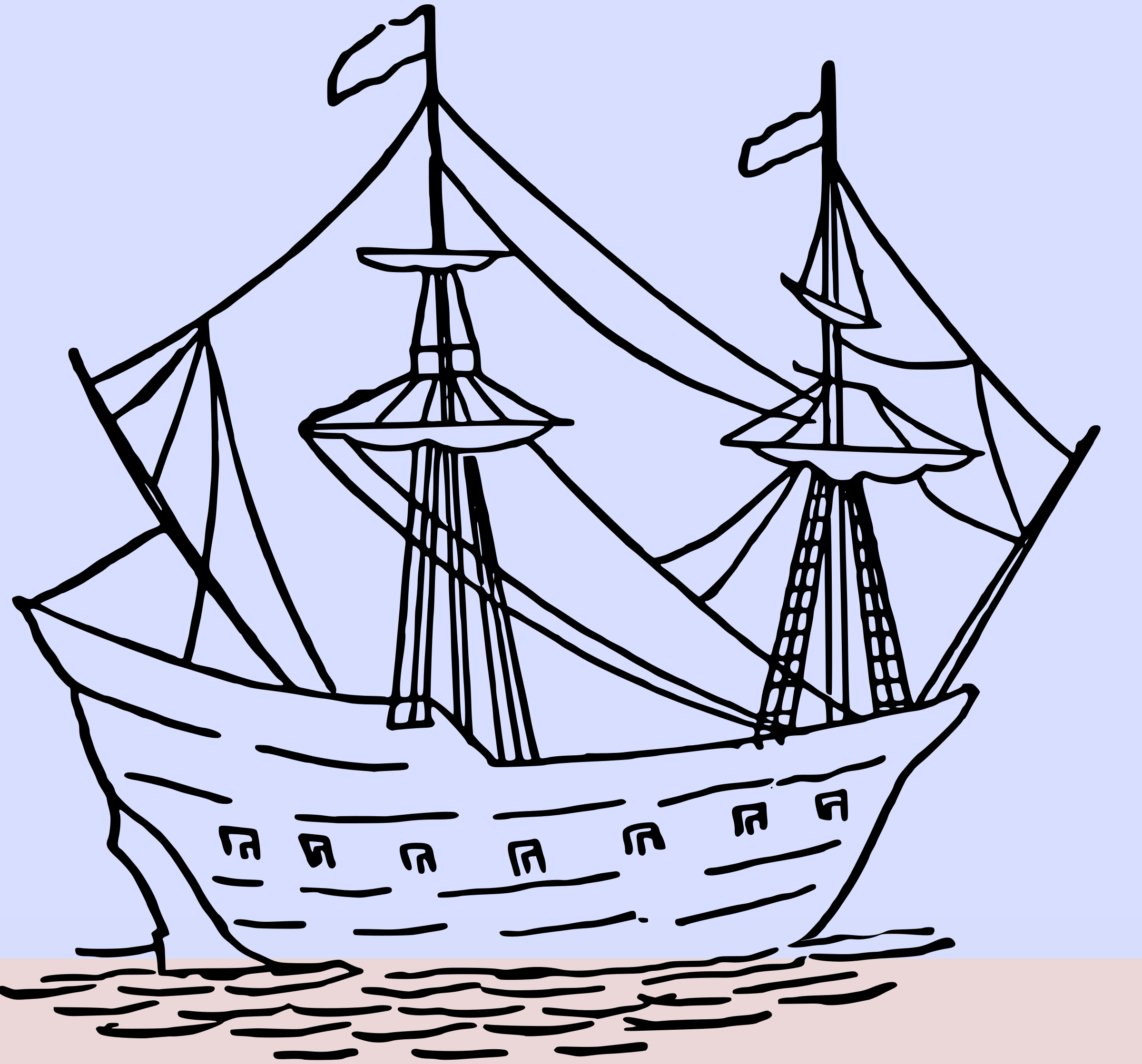 Clipart boat storm. Ship animation big image