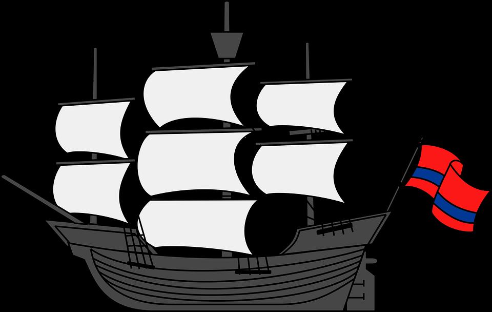 Sea ship frames illustrations. Clipart boat storm