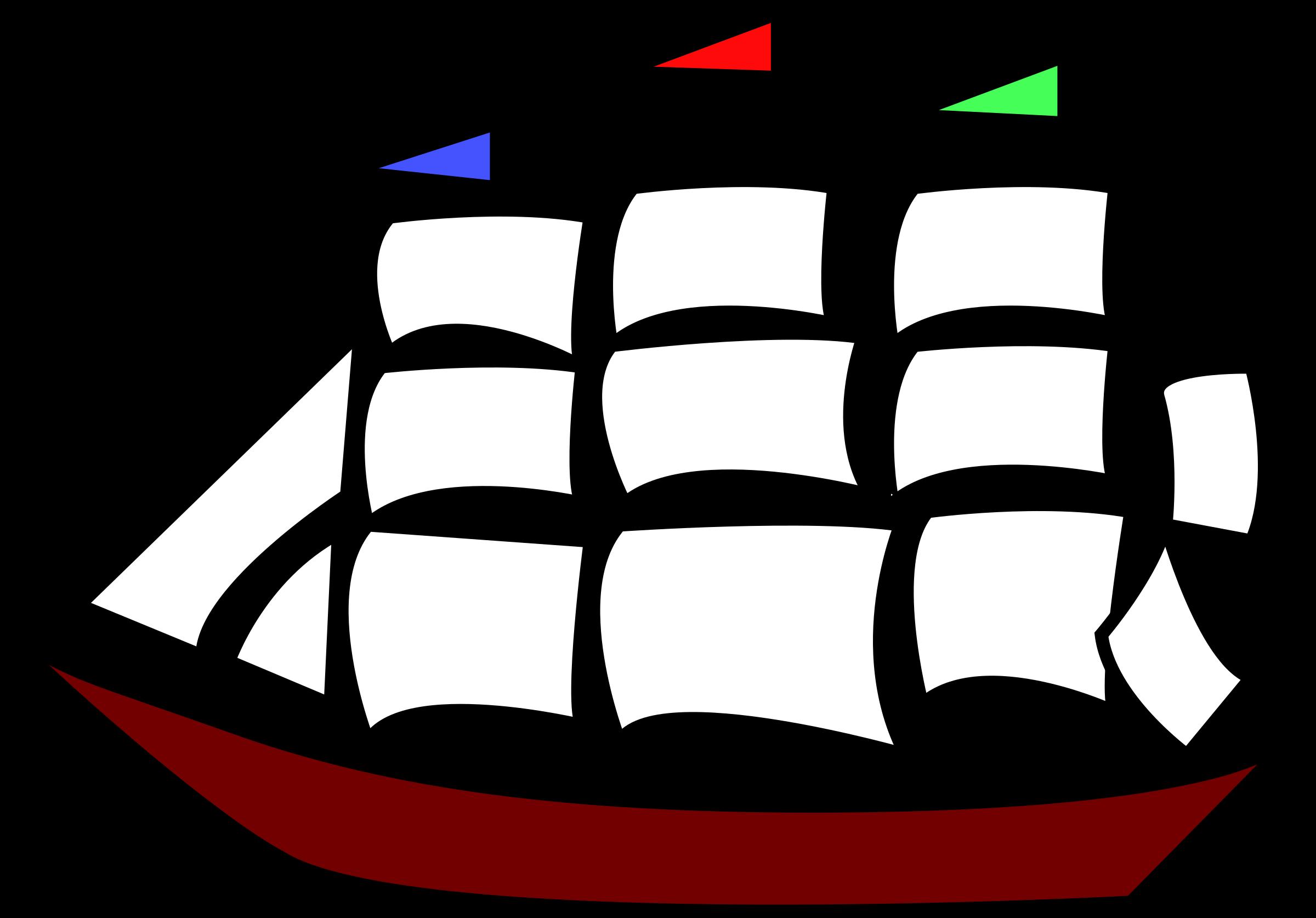 Sailing big image png. Coloring clipart ship
