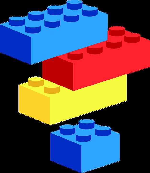 Blocks construction block frames. Clipart boat toy