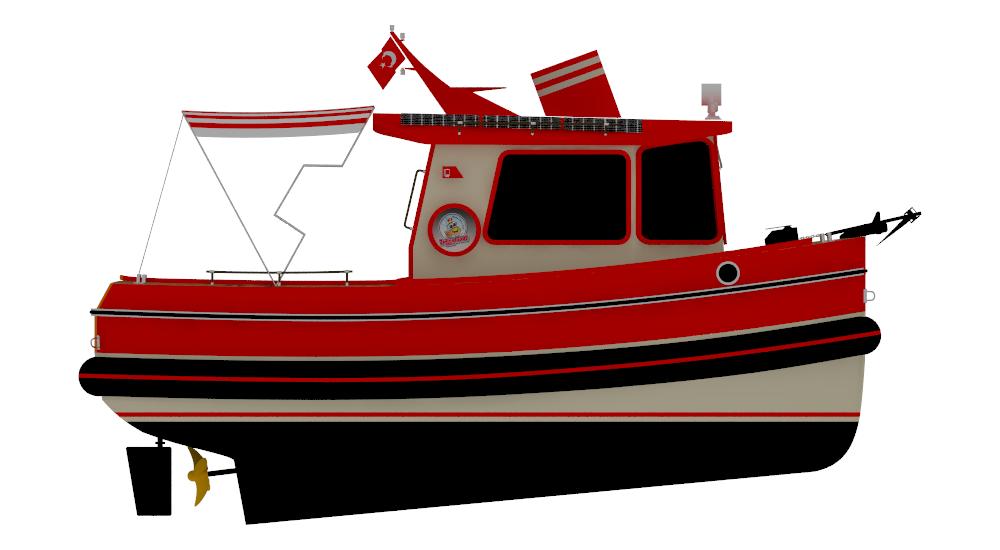 m minitugboat png. Clipart boat tug boat