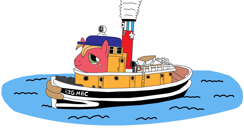artist equestriaguy big. Clipart boat tug boat