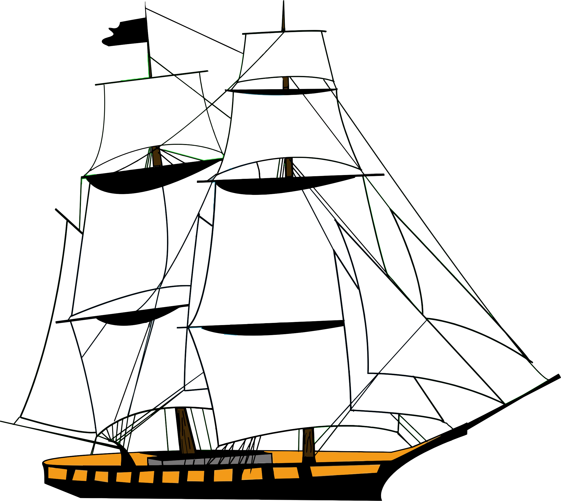 Clipart boat vector. Sailing ship clipper related