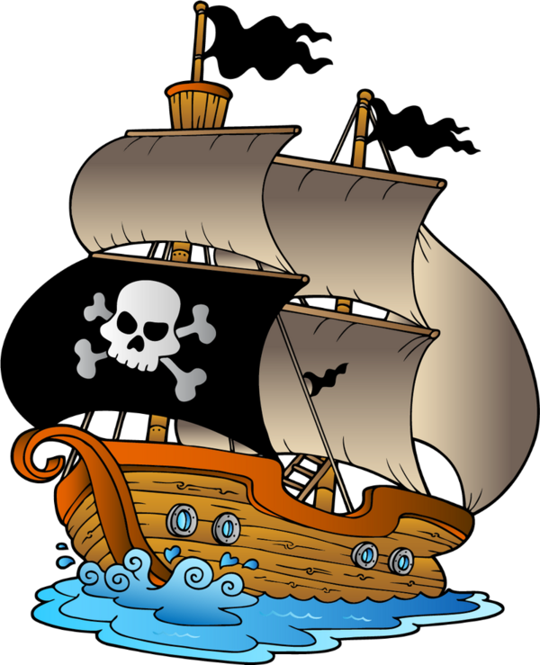 Clipart boat vector. Pirate border free download