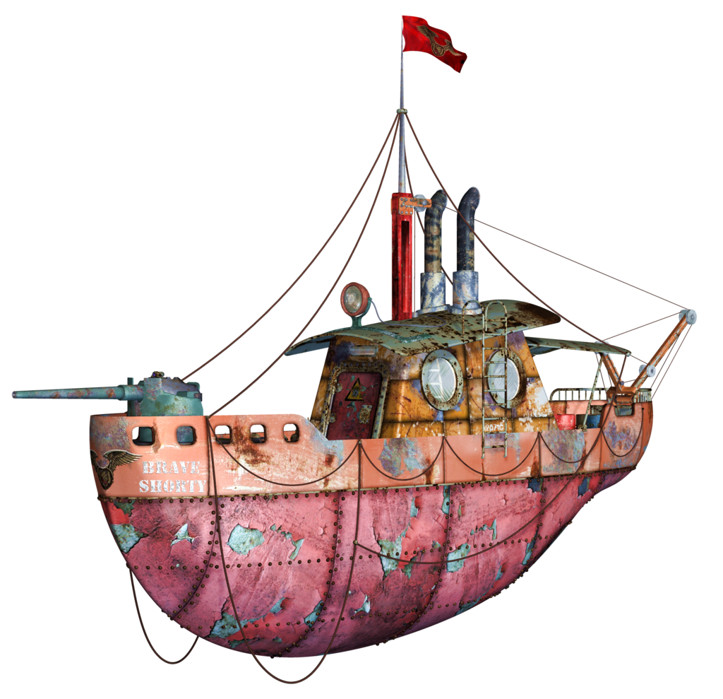 Flying tug boat png. Steampunk clipart architecture