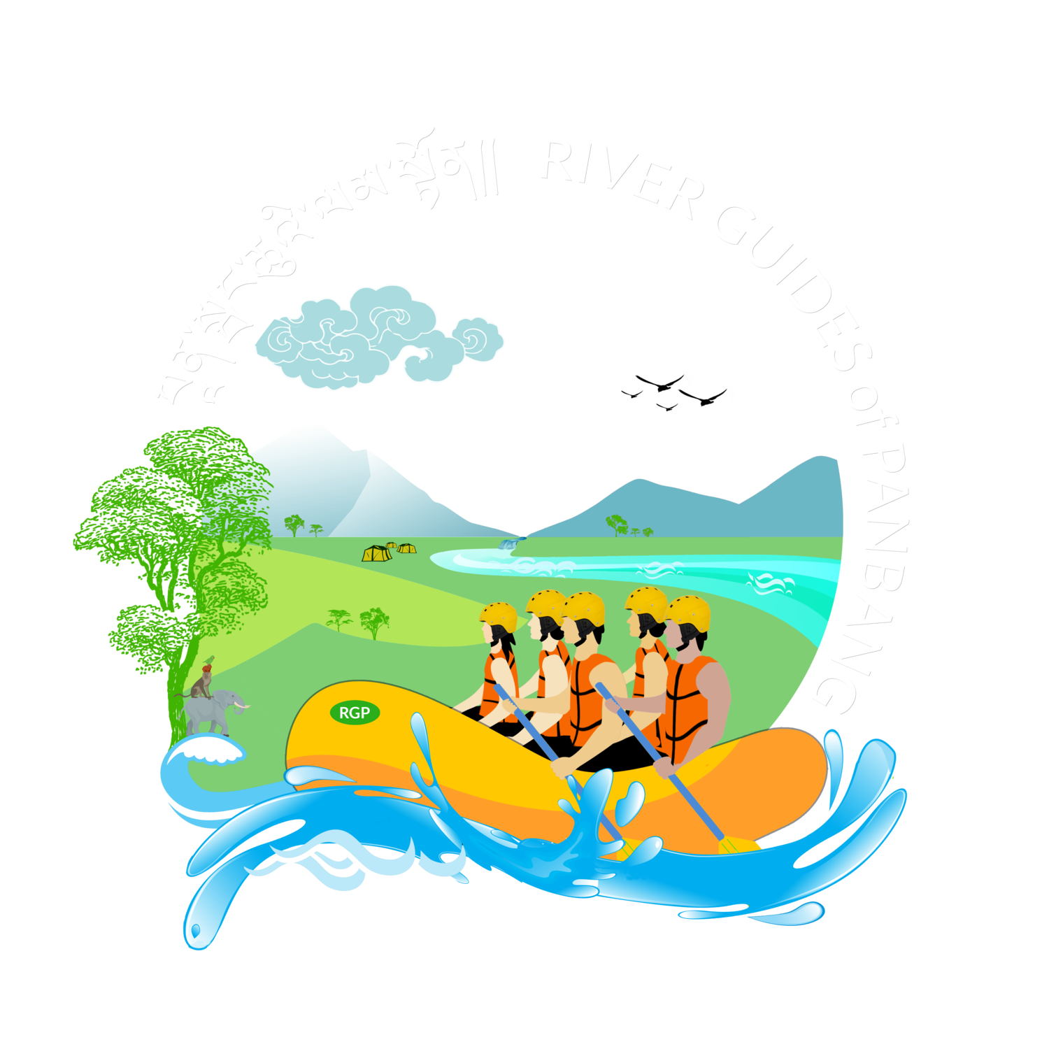 River guides of panbangriver. Environment clipart scenic drive