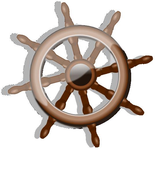 Ship clip art at. Wheel clipart captain