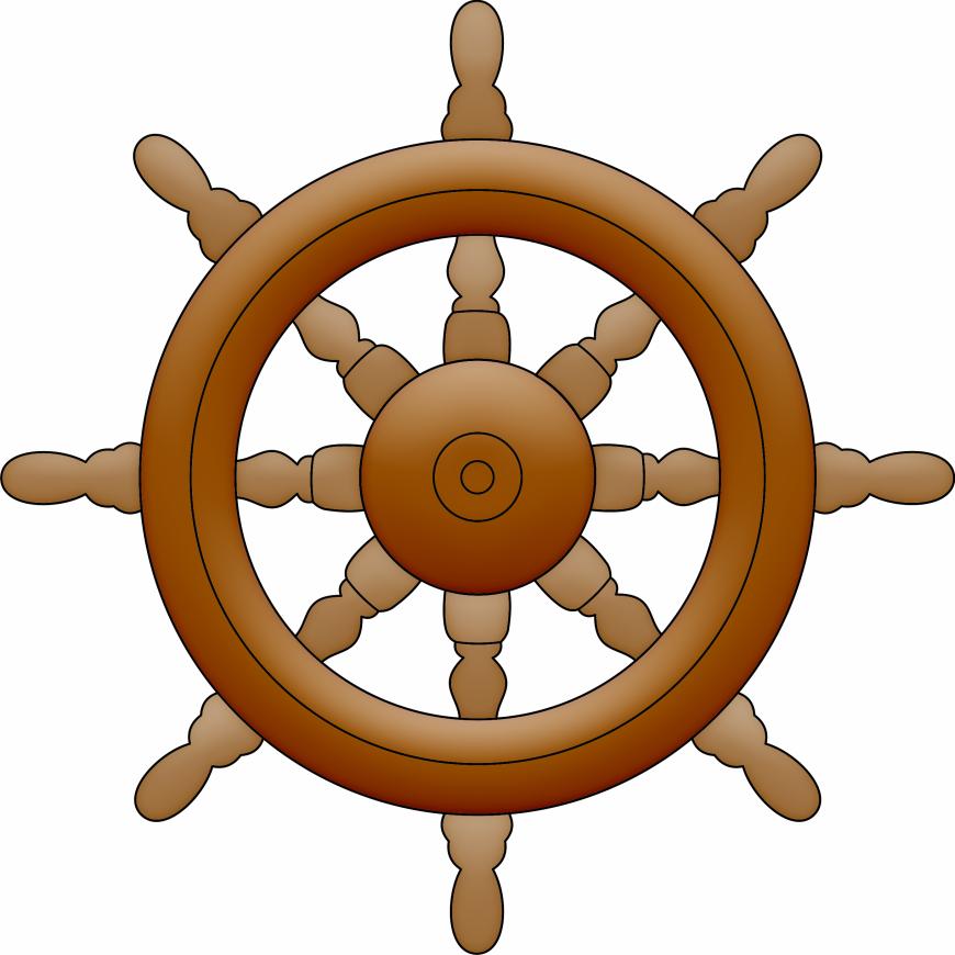Passatempo da ana imagens. Wheel clipart captain