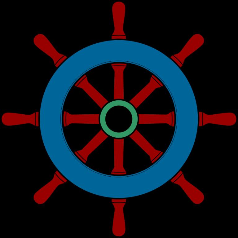Cilpart majestic design boat. Wheel clipart steering wheel