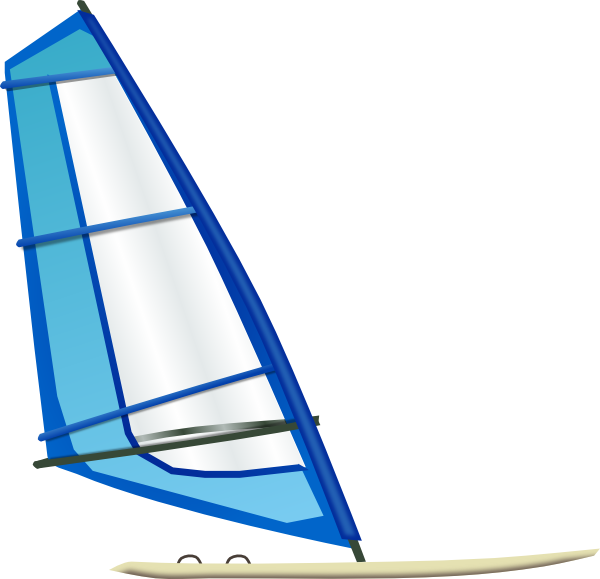 Surfing clip art at. Clipart boat wind