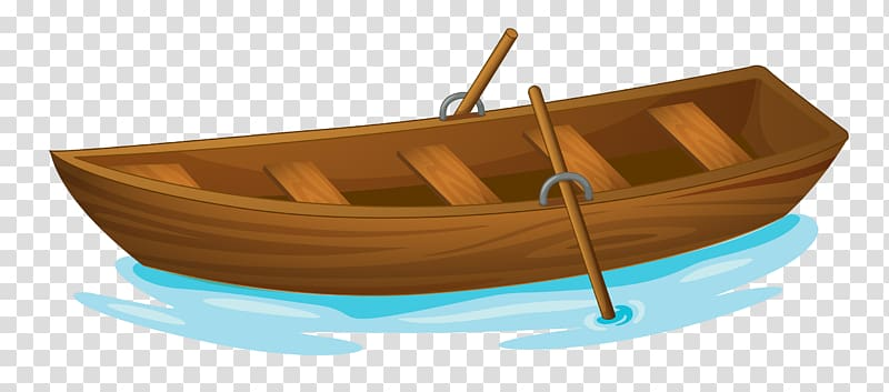 Brown wooden illustration rowing. Clipart boat wood